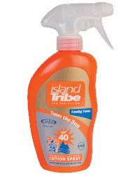 Island Tribe SPF 40 Light Lotion Trigger Spray 300ml voor de hele familie